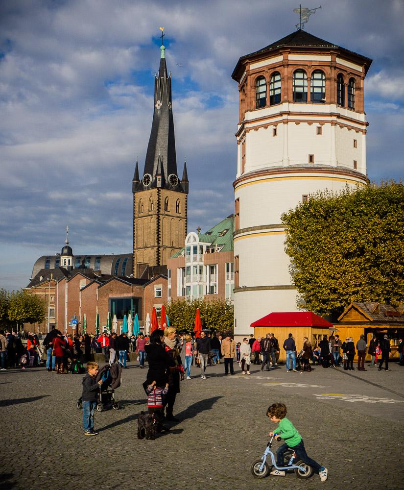 Schlossturm und St. Lambertus in Düsseldorf